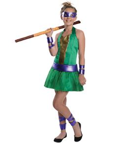 Kostium Donatello Wojownicze Zólwie Ninja dla dziewczynki