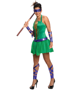 Kostium Wojownicze Zólwie Ninja damski