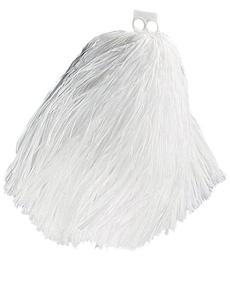 Biały pompon